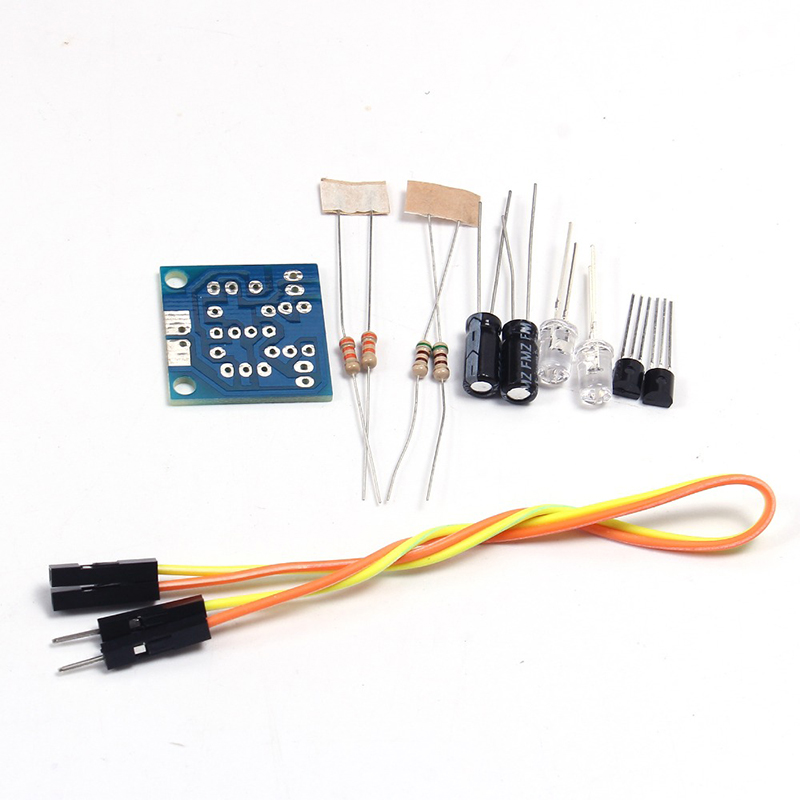 DIY Kit Diy Electron5MM LED Simple Flash Light Circuit Simple Flashing Leds Circuit Board Kits Electronic Production Suite Parts