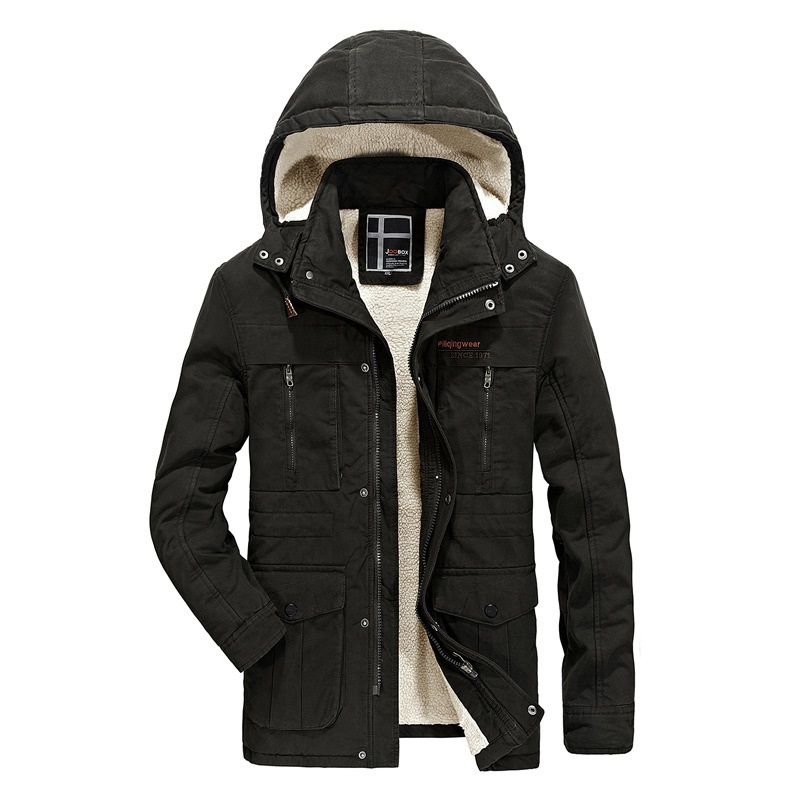 Cashmere warm parka men winter coat cotton hoody mens long jacket outerwear zipper casual coats man windbreaker brand overcoat men ultra light large size thin parka jacket korean black cardigan china hoody winter overcoat slim warm military manteau homme