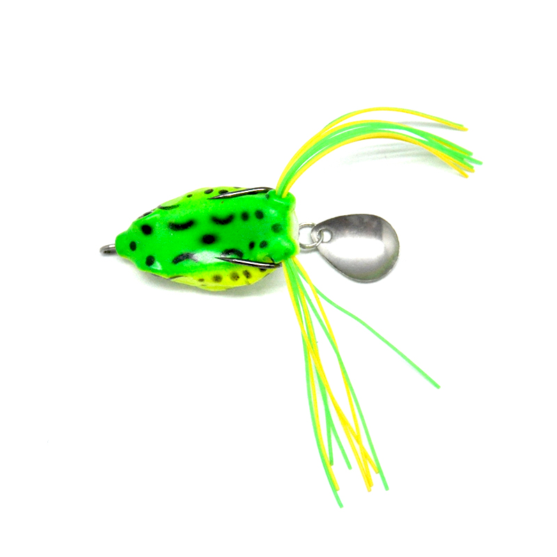 Topline Tackle Soft Frog Fishing Lures With Metal Sequins Top Water Artificial Bait 9 12G 6 9cm Double Hooks Frog Lure Tackle in Fishing Lures from Sports Entertainment