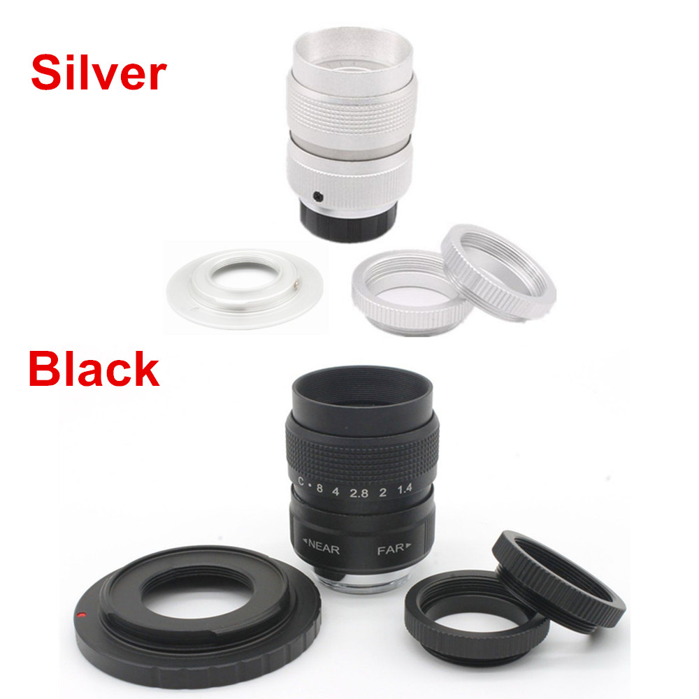 FidgetFidget Fujian 35mm f1.6 C Mount CCTV Lens for EOS M EF-M ...