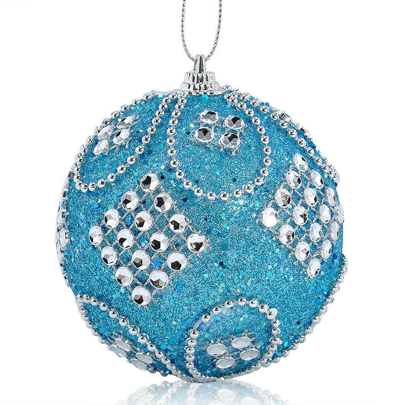 Christmas Rhinestone Glitter Baubles Balls Xmas Tree Ornaments christmas decorations enfeite de natal for home 2018 #2o26 (11)