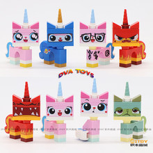 For Friends Princess Unikitty Movies girls Angry Astro Queasy Biznis Kitty Glasses Building Block Toys Figures(China)