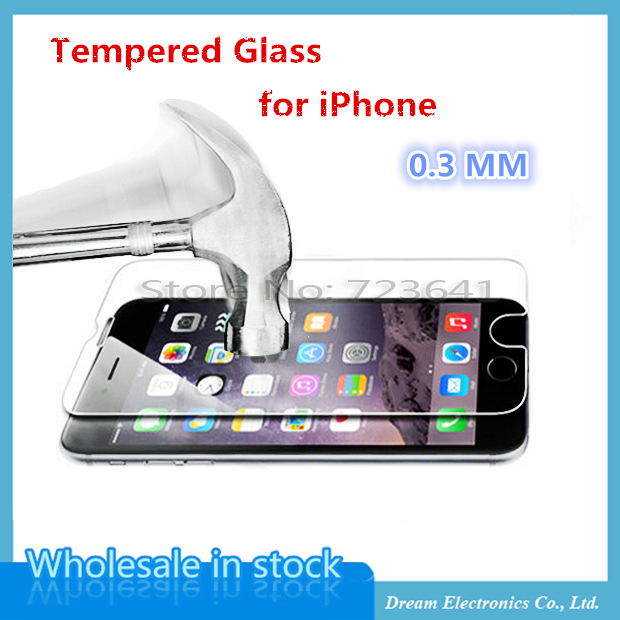100pcs/lot By DHL/EMS 0.3mm Super Thin Tempered Glass Film for iPhone 7 6 6s plus 5 5s 5c 4 4s Transparent Screen Protector