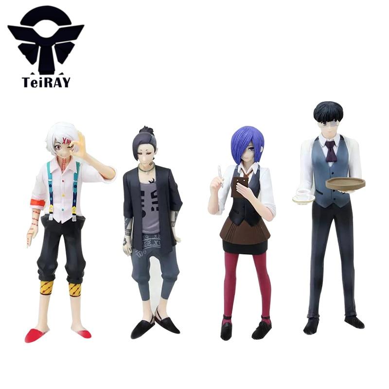Tokyo Ghoul  Kaneki Ken Juzo SuzuYa Rei Uta Kirishima Figma 15CM Japan Anime Pvc Action Figures Jouet Kids Hot Toys for Children