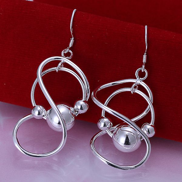 925 de la joyería plateado pendientes, 925-sterling-silver joyería moda, Bean pe