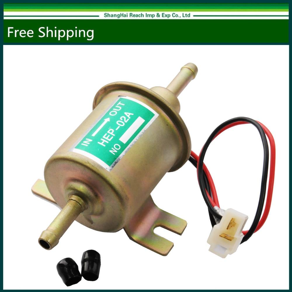 12V Universal Gas Diesel Inline <font><b>Low</b></font> Pressure Electric <font><b>Fuel</b></font> <font><b>Pump</b></font> HEP-02A