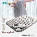 Almohadilla de calefacción eléctrica Bellavie segura para terapia de calor envoltura de alivio del dolor Abdomen y cintura franela cómoda 30*40 CM gris (enchufe UE de 220 V)