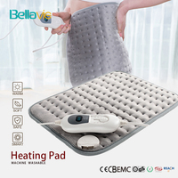Bellavie Safe Electric Heating Pad for Heat Therapy Pain Relief Wrap Abdomen and Waist Cosy Flannel 30*40CM Grey (220V EU Plug)