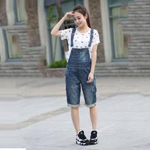 346d1c8af6 Slim Cute Cowboy Bib Female Korean version 2018 New Large size Loose Sling  Five pants   Overalls More size S-XXXL 4XL