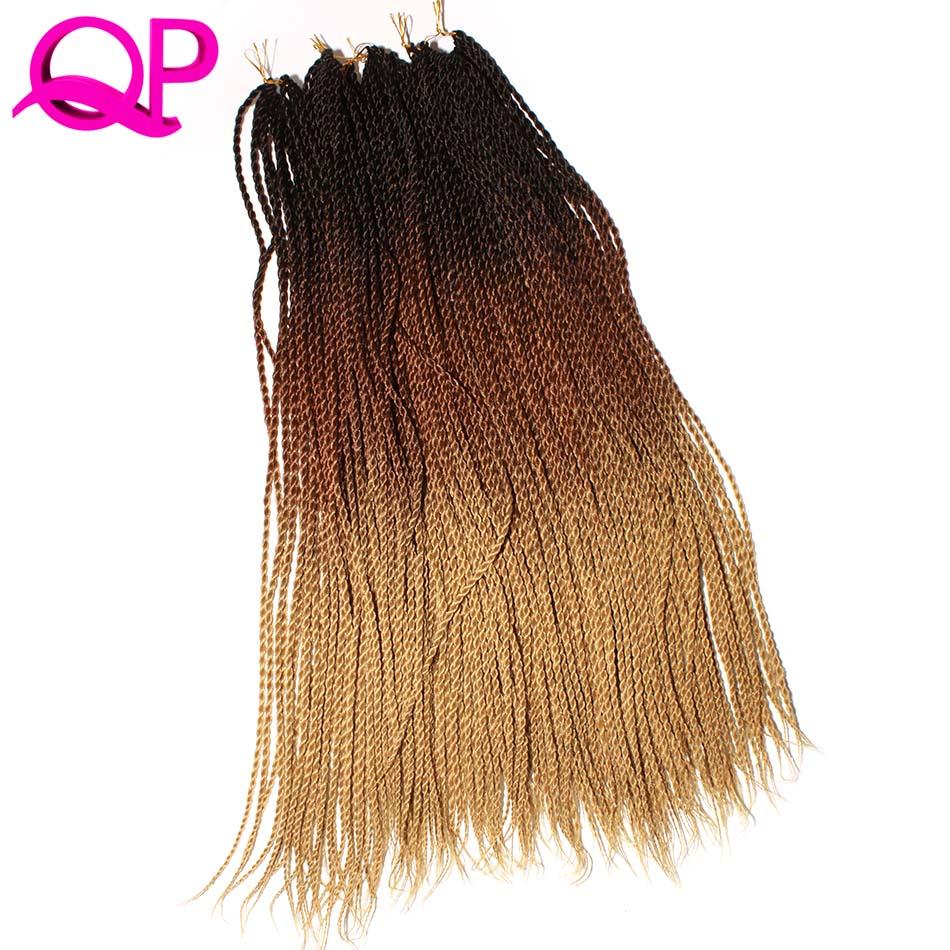 Qp cabelo pré torção crochê extensões de cabelo sintético 6 pacotes ombre crochê tranças senegalese torção do cabelo 24