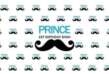 Laeacco Prince Backdrops For Photography Little Man 1 Birthday Mustache Pattern Photographic Backgrounds Photocall Photo Studio