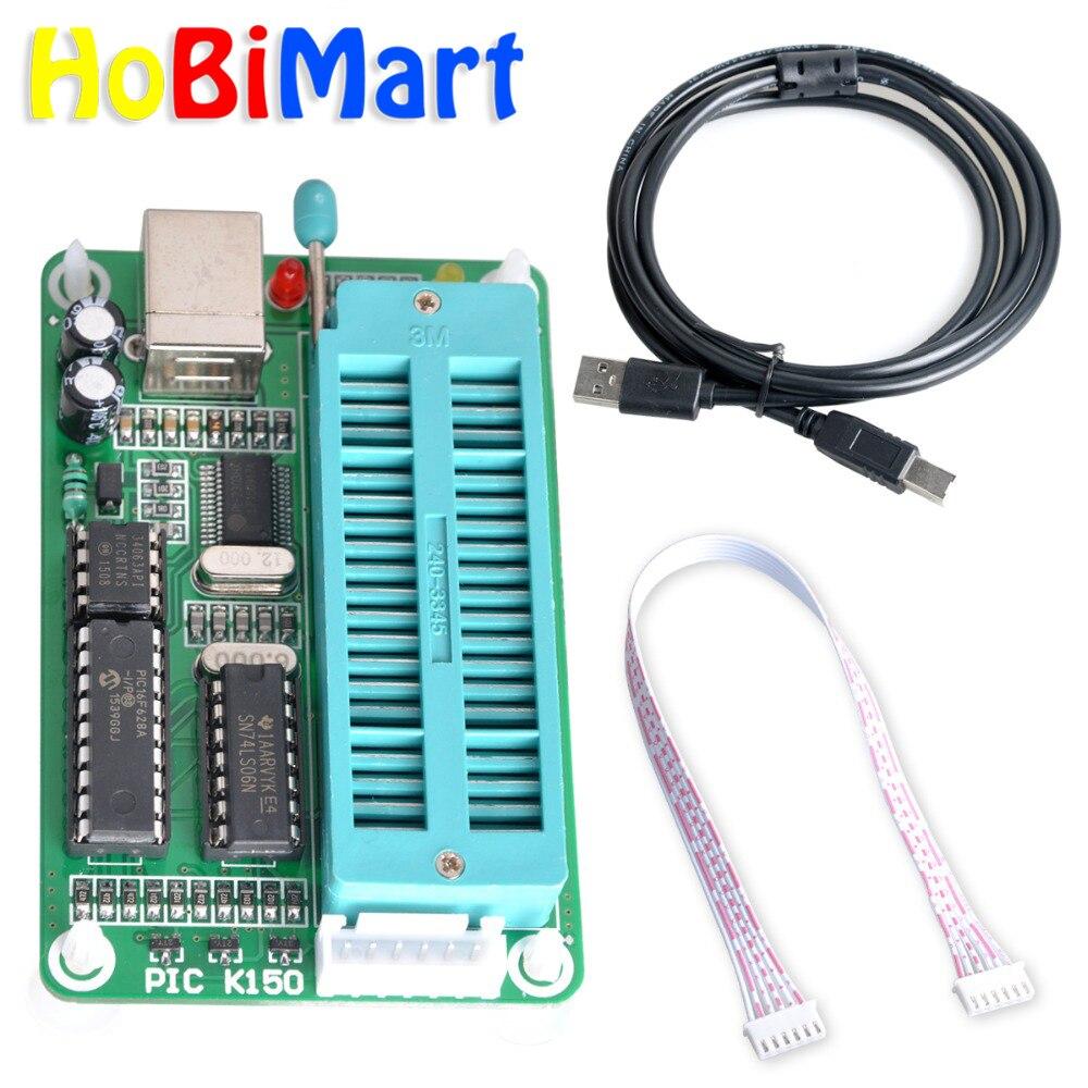 1set PIC K150 ICSP Programmer USB Automatic Programming Develop Microcontroller + USB ICSP Cable PIC K150 ICSP Programmer#D035-a