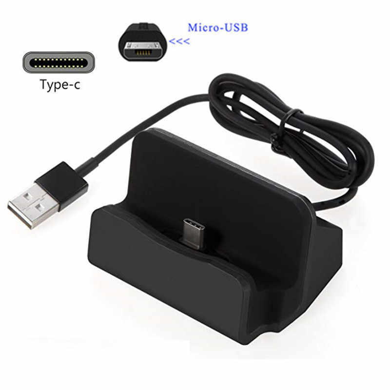 Micro USB Port Charger Desktop Stand Type C Charge For Xiaomi Mi 8 lite A2 5 Redmi 6 6A Redmi Note 7 6 pro 7A Honor 8A 8C 8X 7C
