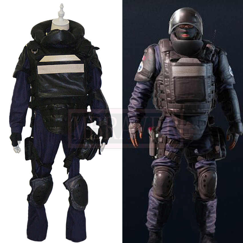 Tom Clancy's Rainbow Six Siege Rook Julien Nizan Cosplay Costume Halloween Uniform Outfit Custom Made Any Size