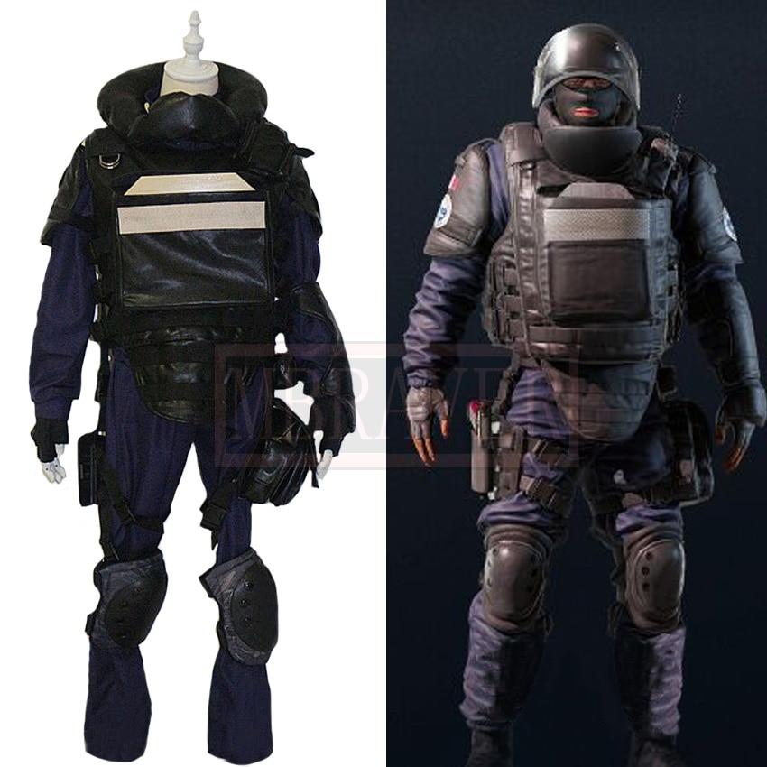 Tom Clancy's Rainbow Six Siege Rook Julien Nizan Cosplay Costume Halloween Uniform Outfit Custom Made Any Size