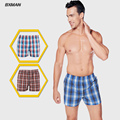 BXMAN 2016 Men Plaid boxers 100% Cotton Mens Underwear boxer Mens Boxer Shorts Mix Color Size XXXL XXXXL 2 Pieces/Lot
