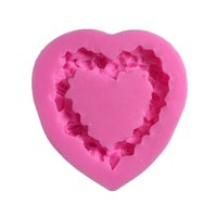 love wreath heart Shape 3D Molds Silicone Mold Soap Candle Molds Sugar Craft Tools Chocolate Molds Bakeware