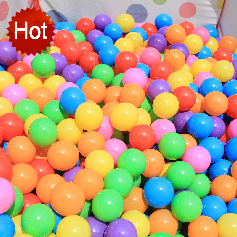 HOT! 25/50/100/200Pcs Baby Toy Ocean Ball Safe Non-toxic Tasteless Colorful Ball Toys Promote Your Baby's Understanding Of Color(China)