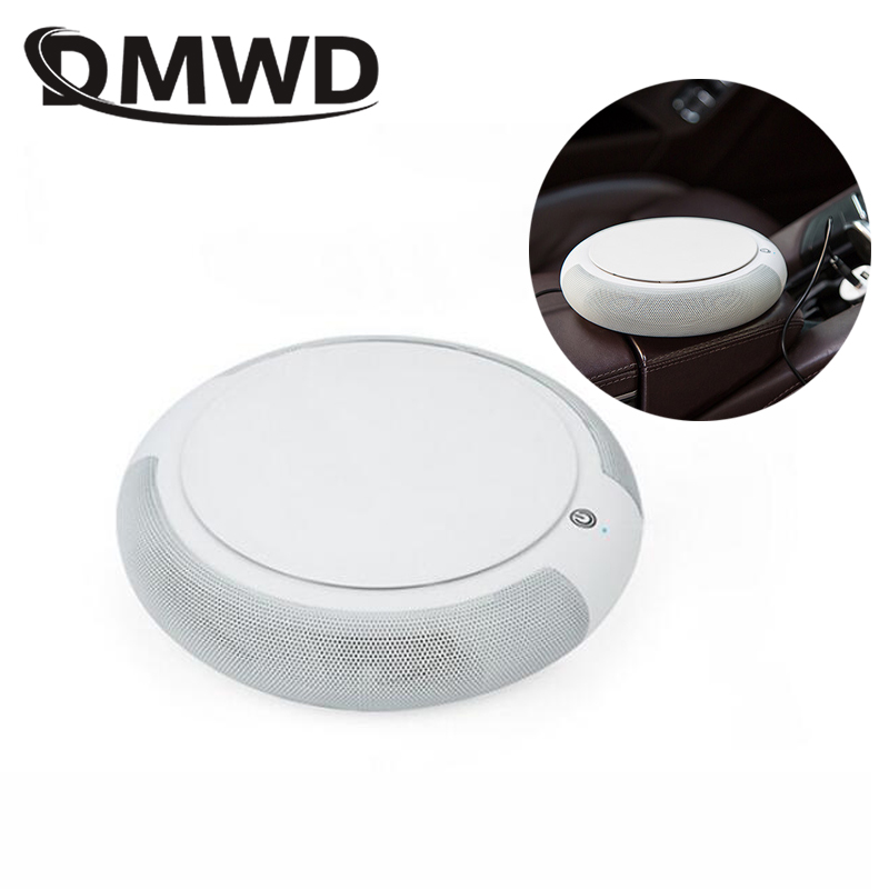 DMWD Vehicle Car Air Purifier Mini Auto Oxygen Bar Ozone Ionizer Aroma Diffuser Formaldehyde Smoke Smell Odor Cleaner USB Filter