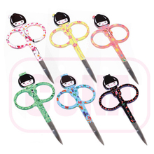 1pcs eyebrow stencil Japan eyeliner  Makeup Scissors For Eyebrows Stainless steel Beauty Cosmetics Make Up Random Color