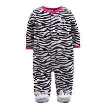 Купить с кэшбэком high-grade boys and girls fleece with foot piece climbing clothes leotard Romper warm pajamas tracksuit