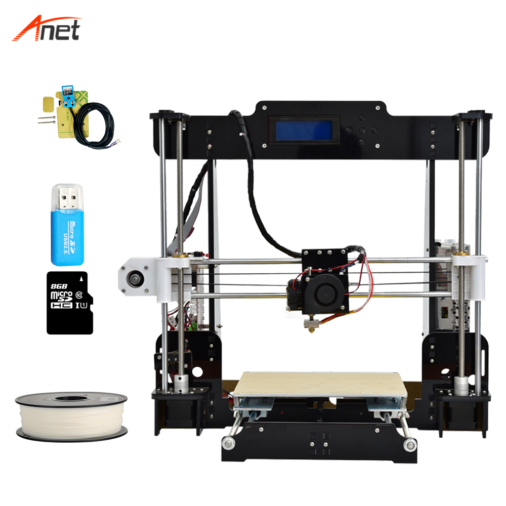 Anet A8-L Auto Leveling 220*220*240mm Build Volume Cheapest 3d Printer Most Popular Best Impressora 3d Switchable Power Supply цена 2017