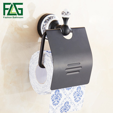FLG Space Aluminum Black Toilet Paper Roll Holder Wall Mount Holder,Paper Towel Bathroom Accessories