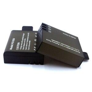 Image 3 - Usbデュアル充電器 + 2 個 1050mahの充電式リチウムイオンカメラのバッテリーeken H9 H9R H3 H3R H8PRO H8R h8 プロスポーツアクションカメラ