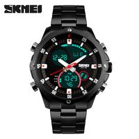 SKMEI Luxury Brand Watches Men Fashion Casual Business Sports Wrist Watches Dual Time Digital Analog Quartz