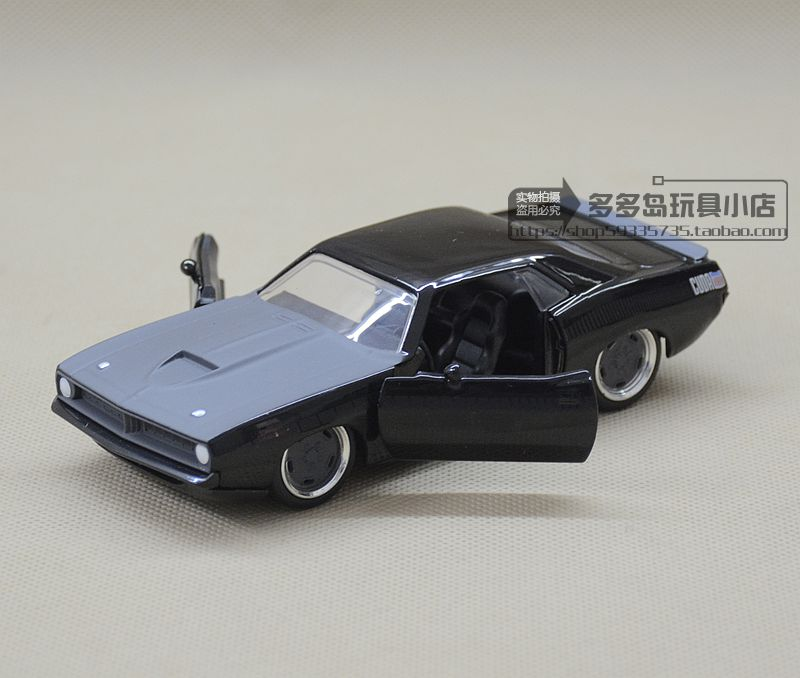 JADA 1:32 scale High simulation alloy model car,Plymouth barracuda,2 open door,quality toy models,free shipping jada