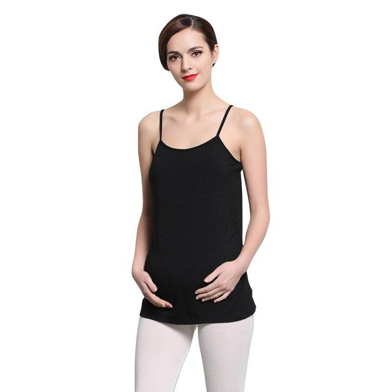 Adjustable Strap Built In Bra Maternity Vest Bra Pregnant Women Slim Padded Stretch Nursing Bra Female Harness Bra CamisolCL1113