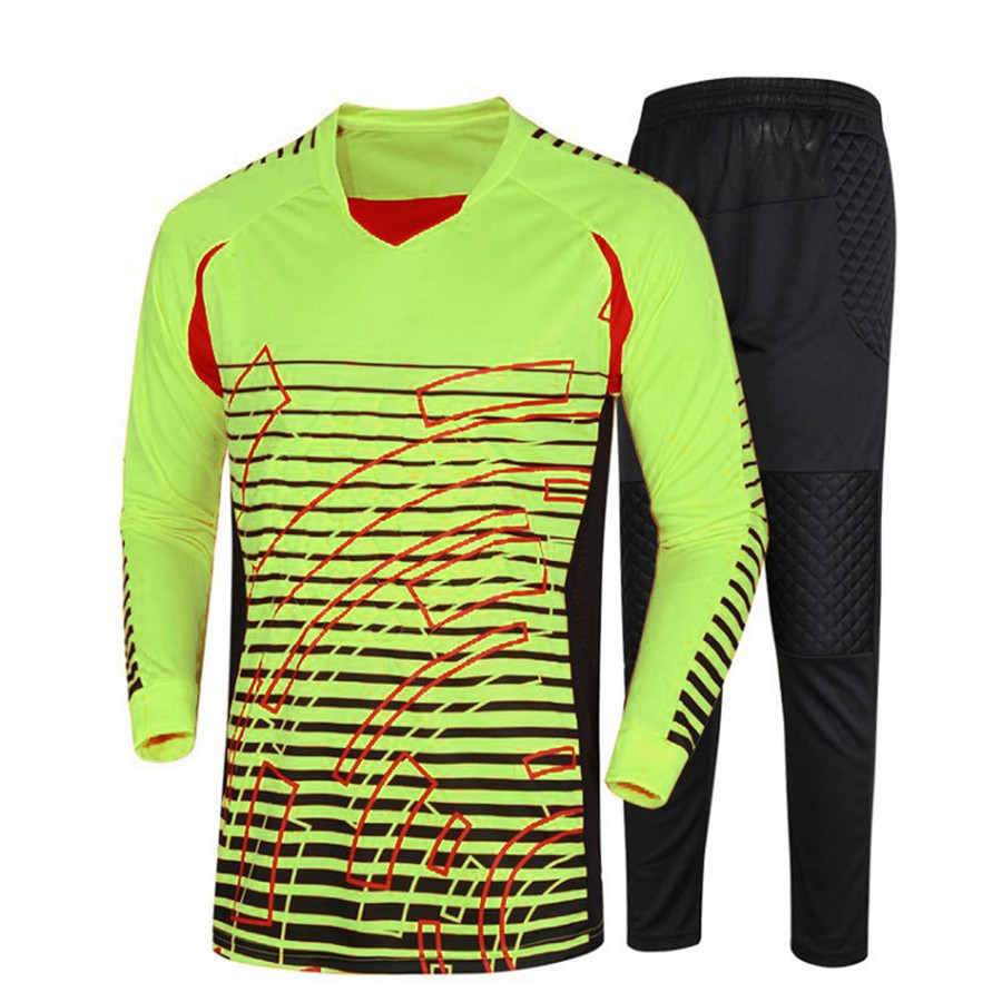 2017 Breathable Quick Dry Men Soccer Training Suits Goalkeeper Jerseys Sets survetement football Shirts Pants Uniforms tracksuit for adult high elastic polyester goalkeeper sets breathable soccer goalie clothing uniforms long sleeve goalkeeper jerseys