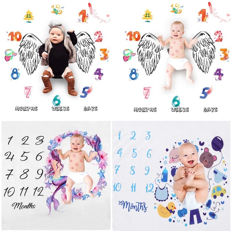 Newborn Baby Photography Props Blanket Infant Swaddle Stroller Bedding Wraps Kids Photo Prop Background Cloth Soft Bathing Towel