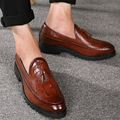 Tassel Men Oxford Shoes Mens Patent Leather  Italy Casual Shoes Luxury Dress Party Wedding Flats Shoes 3colors 2016 New Brand