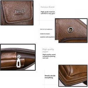Image 4 - JEEP BULUO marque hommes sacs de poitrine 2 pièces ensemble été voyage sac à bandoulière pour homme en cuir fendu Corssbody sac de haute qualité hommes sacs