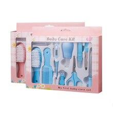 Babyverzorging set 10 stuks pasgeboren baby kinderen nagel haar gezondheidszorg thermometer grooming borstel kit