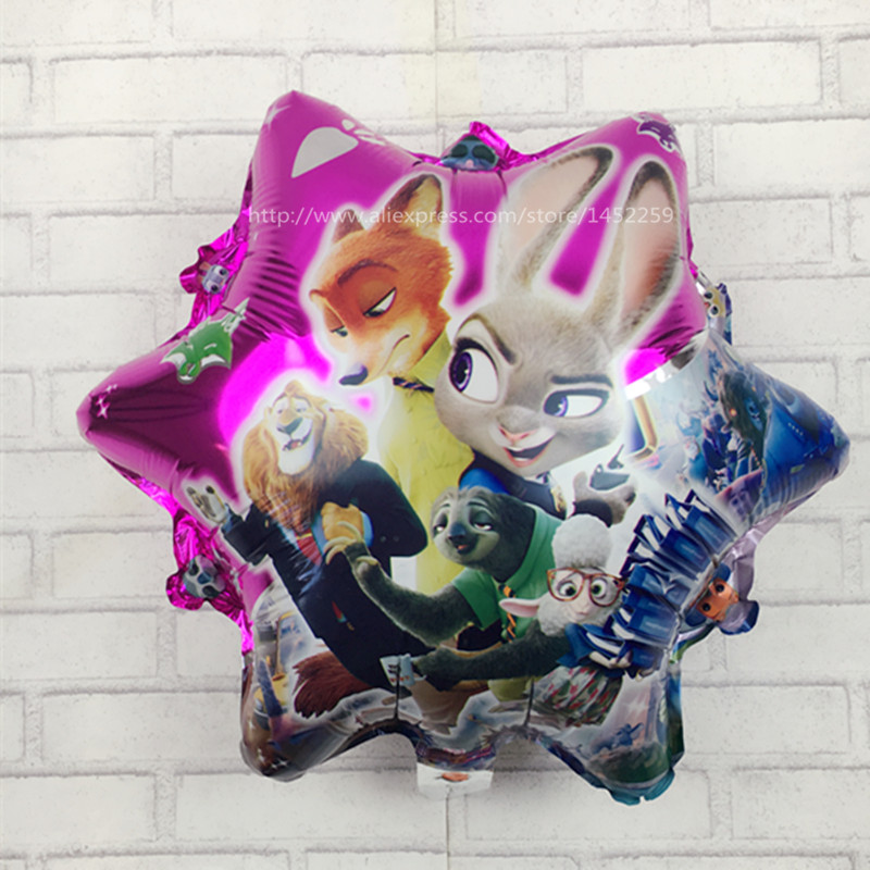XXPWJ 5pcs / lot free shipping new design Cartoon crazy animal City balloons inflatable toys wedding decoration wholesale I-044