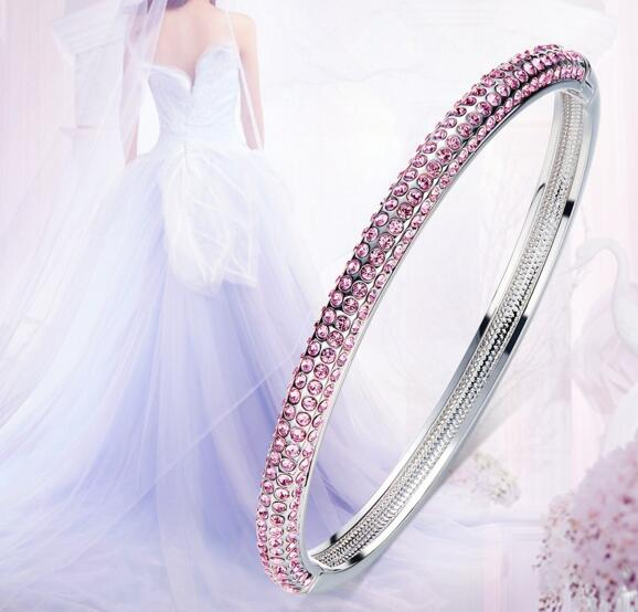 YPD119  925 Silver Lady  bracelet  with Zircon Girls Wedding braceletYPD119  925 Silver Lady  bracelet  with Zircon Girls Wedding bracelet