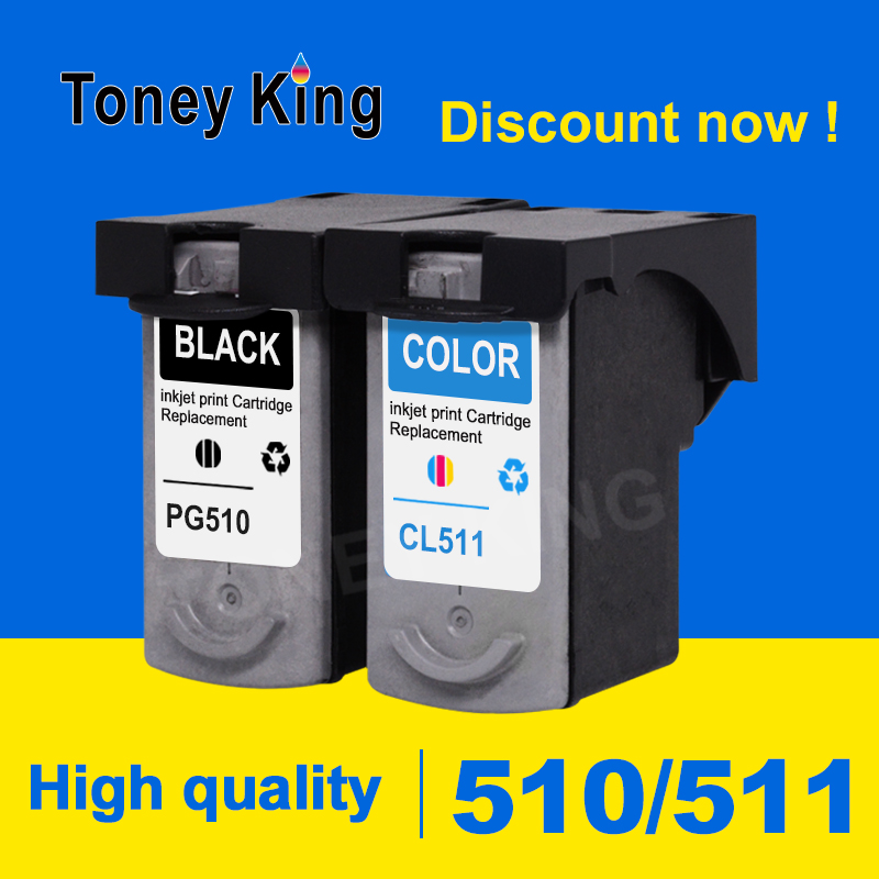 Toney King PG510XL Ink Cartridge PG 510XL CL511XL CL 511X for Canon Pixma IP2700 MP240 MP250 MP270 MP280 MP480 MP490 printer image