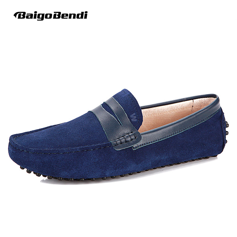 Big Size 11 12 Fashion Men Genuine Leather Mens SLIP-ON Penny Loafer Driving Moccasins Casual Bussiness Dress Shoes 2017 men s casual crocodile genuine leather boat shoes slip on penny loafers moccasin fashion new trended men s loafer shoes new