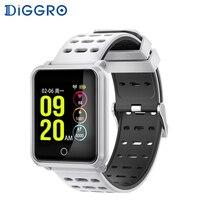 Diggro N88 Smart Watch IP68 Waterproof Color Screen Heart Rate Blood Pressure Monitor Replaceable Bracelet For Android IOS