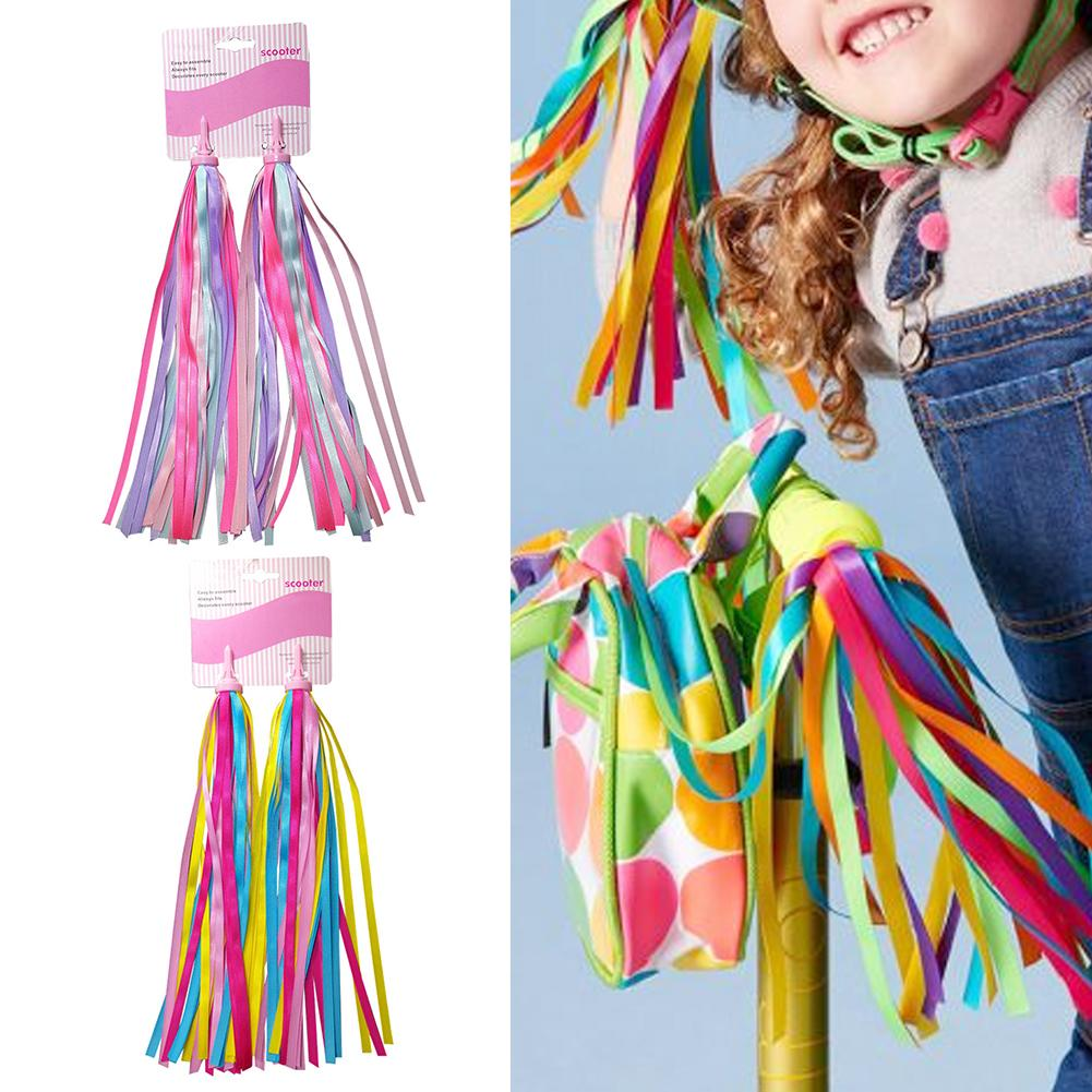 1Pair Of Children Type B Bike Streamers Bicycle Handlebar Ribbon Kids Scooter Tassels Bicycle Handlebar Grips Tassels Decoration
