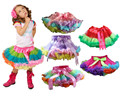 Retail Girls Pettiskirt 3M-15T Children Baby Colorful Rainbow TuTu Skirts Princess Skirt Kids Clothes Free Shipping 1 PCS