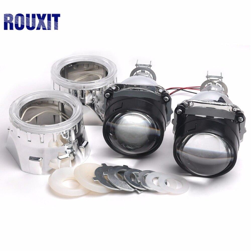 H1 H7 H4 Mini 2.5 pouces Bi xénon projecteur lentilles masque argent linceul voiture HID phare projecteur Kit lentille voiture style accessoires