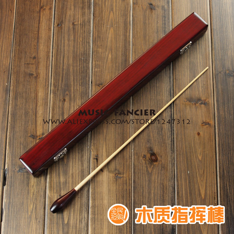 High-Quality Bamboo Baton Music Gifts Conductor dedicated (handmade box / Dispyyosspp Wood handle + bamboo stick) zlrowr natural bamboo pat fitness sticks high quality wood handle of body massage