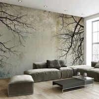 Photo Wallpaper 3D Branch Sky Retro Murals Wall Cloth Living Room TV Sofa Backdrop Wall Covering Waterproof Papel De Parede 3 D