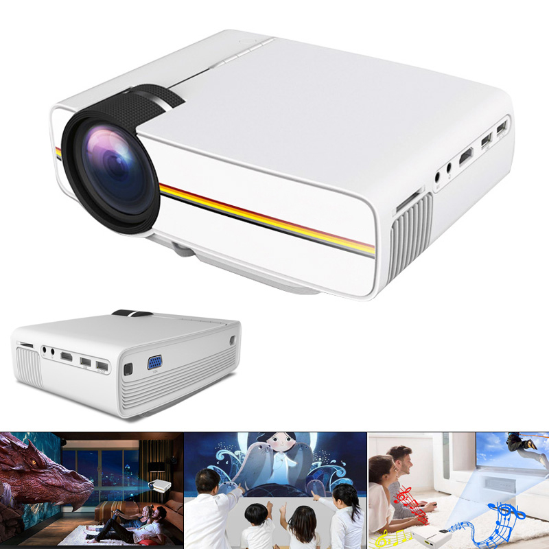 YG400 HD Mini LED Pocket Projector 1800 Lumen 1080 P Portable Homehold Projector with Built-in Loudspeaker HDMI VGA Projector image
