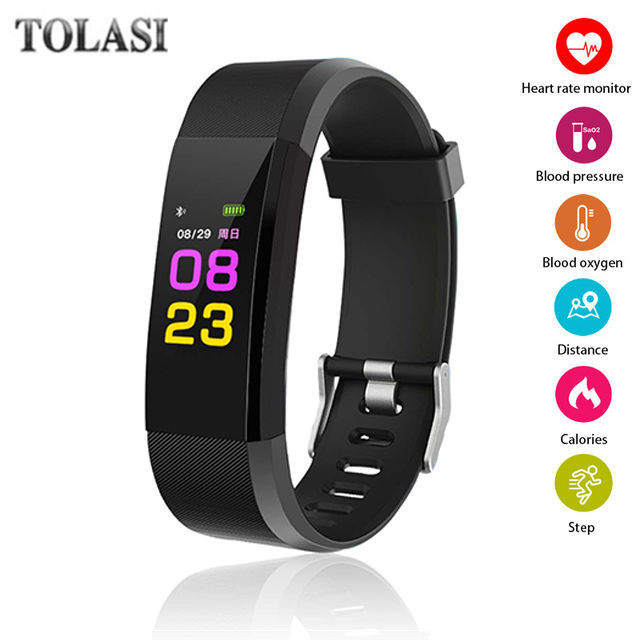 ID115 plus Fitness Tracker Smart Wristband Pressure Smart Wristband Bracelet Heart Rate Monitor Smartwatch for Android IOS Phone id118 plus smart wristband fitness