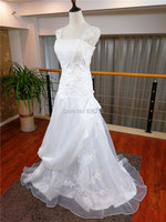 In Stock Free Shipping 2013 Cheap Best Selling White Ivory Appliques Ball Gown Taffeta Wedding Dresses