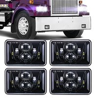 60W 4x6 LED Truck Headlights For Kenworth T800 T400 T600 W900B W900L Classic 120/132 HK Classic Projector Headlamps Replace